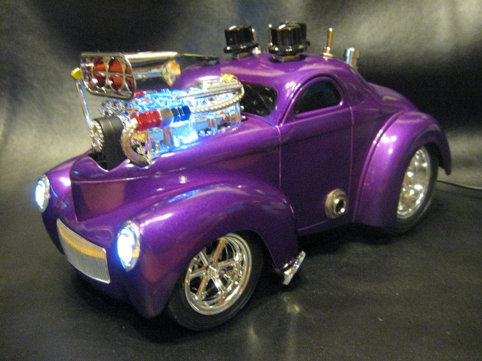 1:18 scale '41 Willys Coupe with a guitar Overdrive/Boost pedal built into it. this will be auctioned and all proceeds will be donated to the fight against cancer. This is one of many projects that I do that will be donated to various causes. Gear used: fender Pawn Shop '51, Roland Cube 20x. This is a Tube Screamer based circuit with Mods.