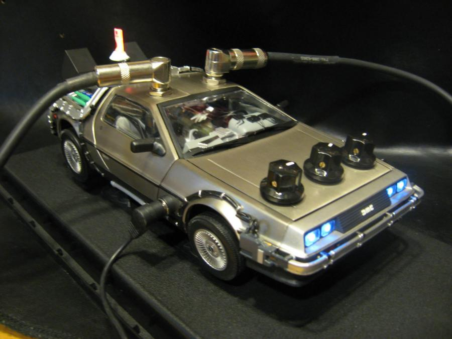 "1:18 scale ""Back To The Future"" Delorean Time Machine with a Digital Delay Built into it."