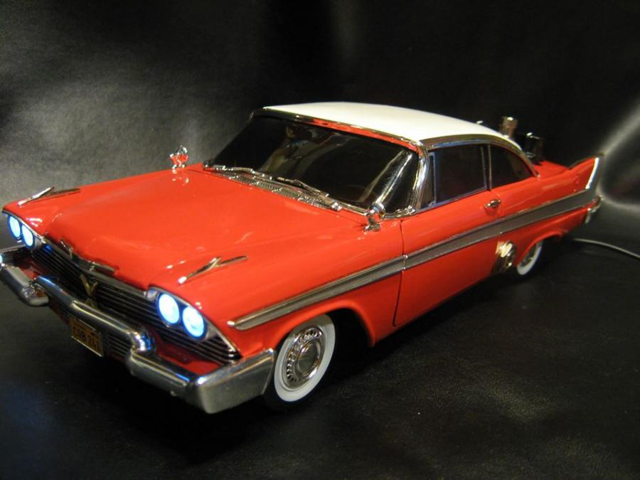"1:18 Scale ""Christine"". Effect is a distortion/fuzz similar to the Big Muff Pi. ""Bad To The Bone"""