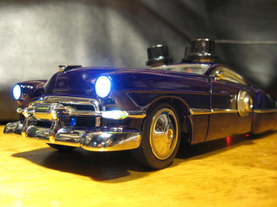 "<div style=""text-align: left;"">Custom 1948 Cadillac 1:24 scale replica of ZZ Top's Billy Gibbons' beloved CadZZilla with a custom Tremolo effect built into it.  Custom made for Micha Kite</div>"